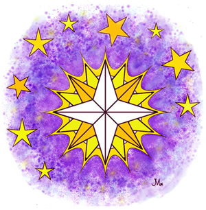 glowing star