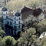 aerial photo of St. Francis of Assisi Parish