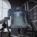 historic photo of St. Francis church bell