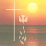 photo of ocean, cross, dove, flames  http://www.areaguidesmall.com/